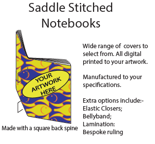 saddle stitched notebook